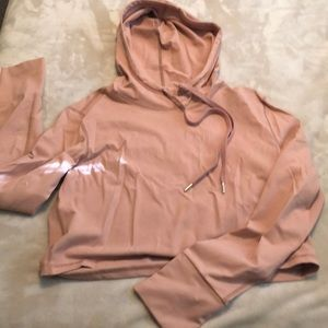 BuffBunny Rose Gold Cropped Hoodie XXL
